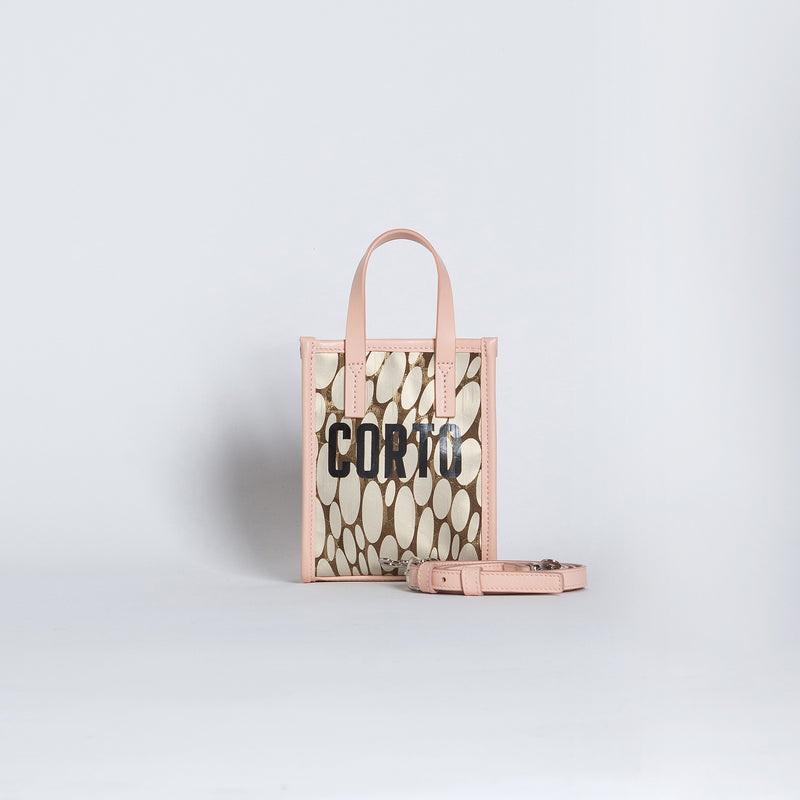 SHOPPER TOTE MINI LUXOR GD/CORTO BLACK/VIT ROSE CARRARA BRIGHT