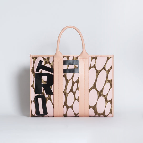COSTANZA BAG L LUXOR GD/CORTO BLACK/VIT CARRARA ROSE