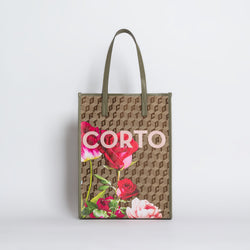 SHOPPER TOTE LUXOR CL/ ROSES MILITARY