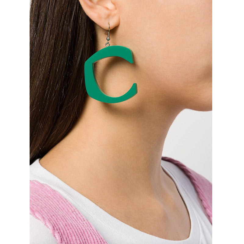 C STAR EMERALD EARRINGS