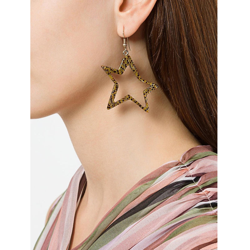 C STAR ZEBRATO EARRINGS