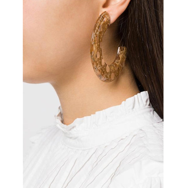 C BENTOTA EARRINGS M WOOD