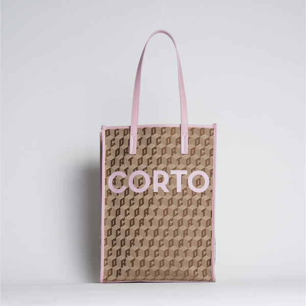 SHOPPER TOTE LUXOR CL/CORTO ANTIQUE ROSE