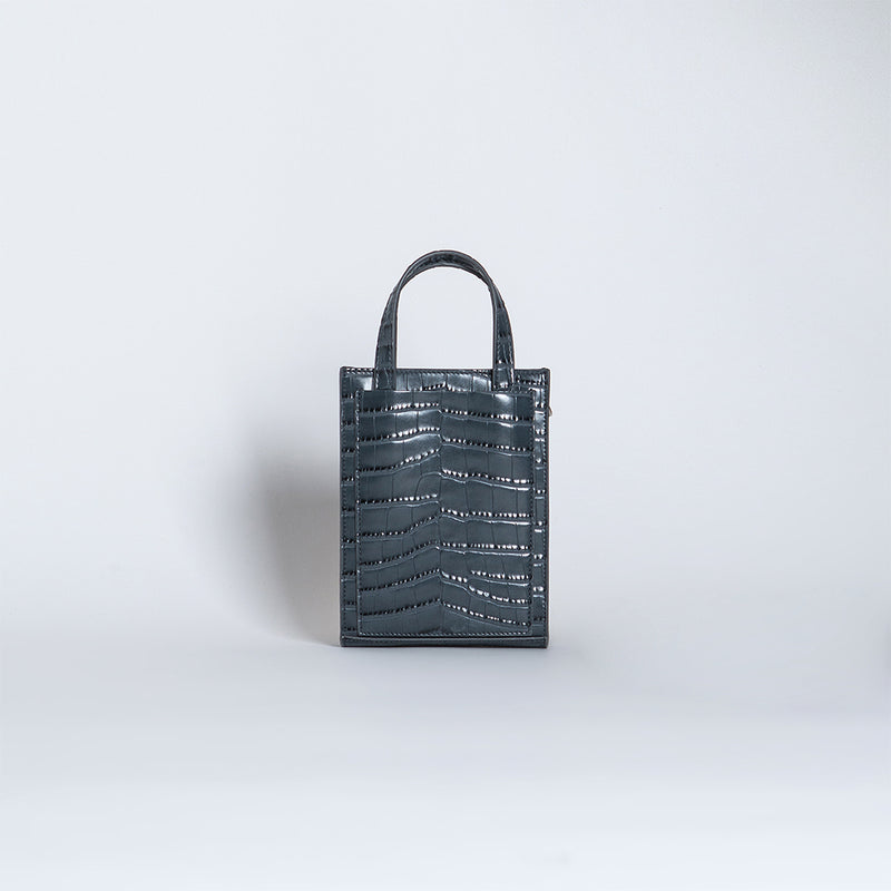 SHOPPER TOTE MINI CROCODILE EFFECT