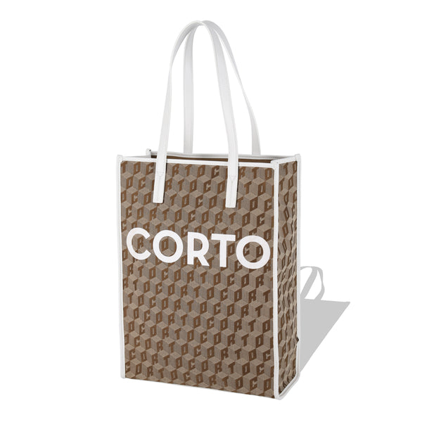 SHOPPER TOTE CORTO X WINDANDSEA/WHITE