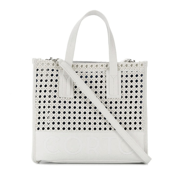 SHOPPER TOTE SMALL BENTOTA WHITE/CORTO