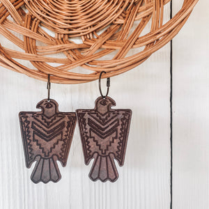 Thunderbird [Leather Earrings]