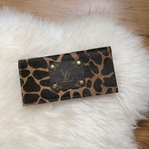 Callen Checkbook Wallet [Dark Spotted Hair On]