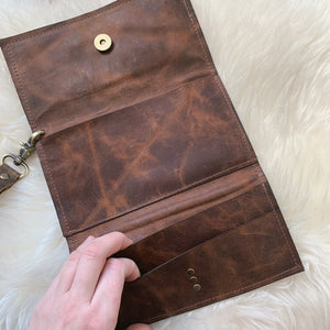 Mav Trifold Wristlet [Gold Acid Wash]