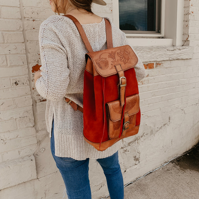 Scarlett [Recycled Leather Backpack]