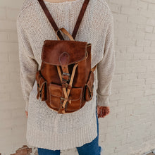 Load image into Gallery viewer, Willa [Recycled Leather Backpack]