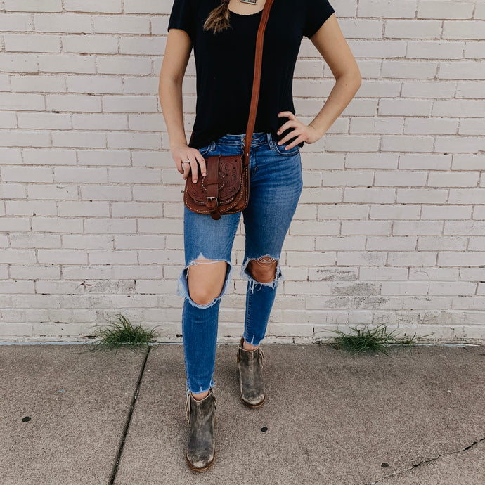 Hazel Mae [Recycled Leather Crossbody]