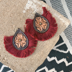 Faya Hand Tooled Earring [four]