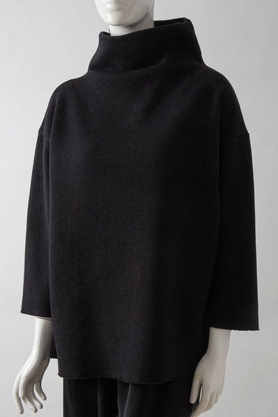 Cashmere Cotton Easy Funnel Sweater