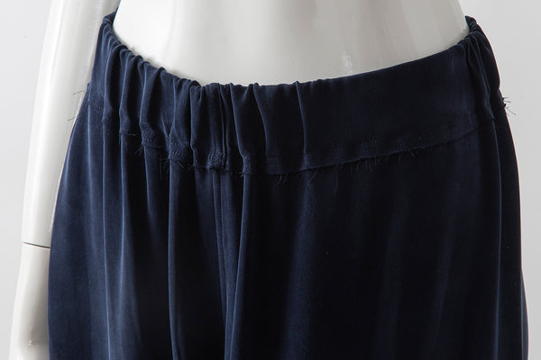 Sueded Silk Crop Palazzo Pants