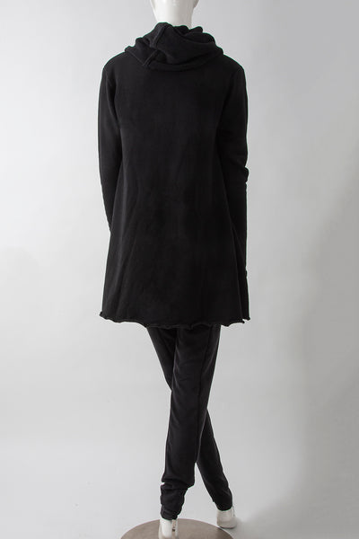 Cowl Neck Swing Tunic Sweatshirt