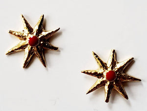 Red Star Earrings