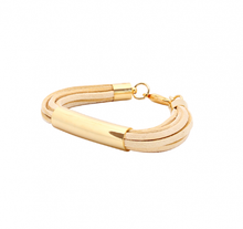 Load image into Gallery viewer, Gold Balance Bracelet Cream