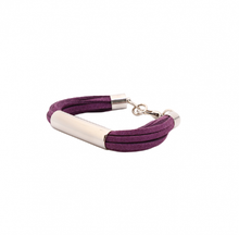 Load image into Gallery viewer, bracelet, unique, jewelry, accesories, style, elegant, fashion, woman, beautiful, accesorios, pulsera, trendy, negro, gris, gris claro, morado, black, grey, purple, instagood, instadaily, shippingwoldwide, onlineshopping, dayanamendozashop, shopdayanamendoza