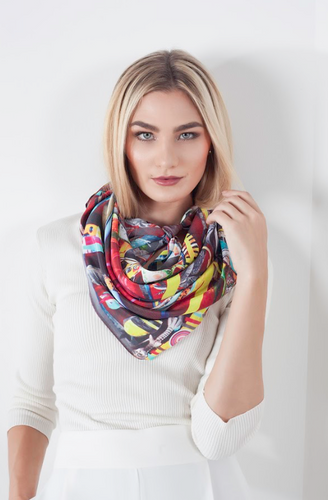 scarf, woman, beautiful, elegant, colors, style, fashion, trendy, instagood, instadaily, shippingworlwide, onlineshopping, unique, dayanamendozashop