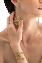 Load image into Gallery viewer, earrings, gold long earrings, aretes, zarcillos, accessories, accesorios, oro