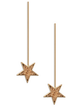 Load image into Gallery viewer, gold, earrings, star, accessories, oro, accesorios, zarcillos, aretes