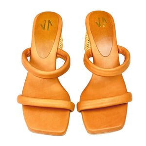 Square Sandals Silvia Cobos Icaria Brown