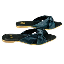 Load image into Gallery viewer, Flat Sandals Silvia Cobos Love Black