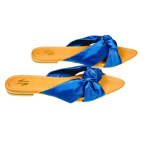 Flat Sandals Silvia Cobos Love Blue