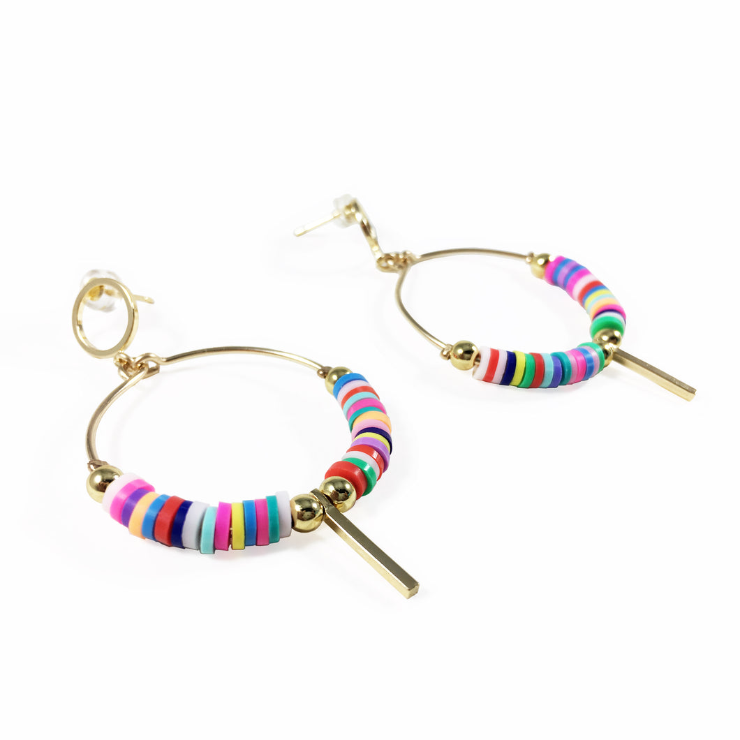 earrings, gold, rainbow, accessories, fashion, unique, beautiful, woman, style, trendy, fun, chick, instagood, istadaily, shopdayanamendoza, shippingworldwide, onlishopping