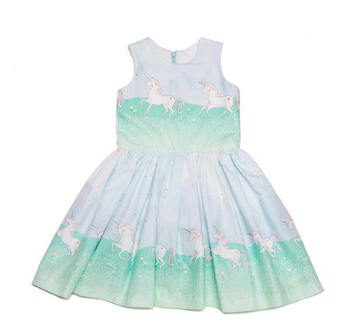 Amanda Dress Unicorn Parede Mint