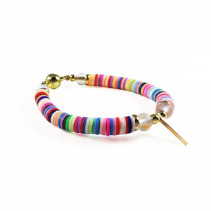 bracelet, gold, rainbow, accessories, fashion, unique, beautiful, woman, style, trendy, fun, chick, instagood, istadaily, shopdayanamendoza, shippingworldwide, onlishopping