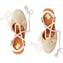 Load image into Gallery viewer, espadrille, sandals, woman, colombian, handmade, fashion, unique, trendy, fun, chick, style, comfort, beautiful, instagood, instadaily, shopdayanamendoza, onlineshopping, shippinworldwide