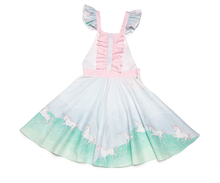 Load image into Gallery viewer, dress, girl, toddler, unicorn, cute, kids, style, fashion, beautiful, instagood, trendy, unique, instadaily, shippingworldwide, onlineshopping, dayanamendozashop, shopdayanamendoza
