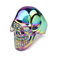 Load image into Gallery viewer, Men's Stainless Steel Biker Rings Skull Jewelry 316L Party Gifts