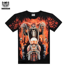 Load image into Gallery viewer, Men's T-Shirts [Men bone] Dragon Skull Wolf printed t shirt men mens top quality cotton