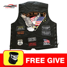 Load image into Gallery viewer, Men's Leather Vest Side Lace 2/Front Pockets 1/Piece Panel For Patches Or Embroidery