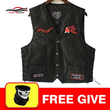 Load image into Gallery viewer, Men's Leather Vest Plain Front Snap 1/Panel Back For Patches & Embroidery 2/Pockets