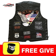Load image into Gallery viewer, Men's Leather Vest Side Lace Patch Leather Front Snap 2/Front Pockets