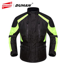 Load image into Gallery viewer, DUHAN Motorcycle Jacket Men Waterproof Moto Jacket Racing Rain Coat Riding Protective Gear