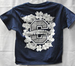 T-Shirt - Cotton - Flower design - Womens/Girls