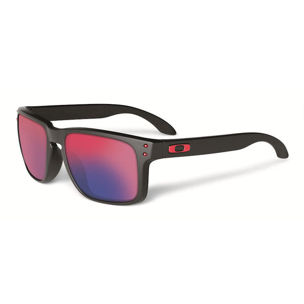 Oakley Sunglass- HOLBROOK Matte Black/Red Iridium - Chicago Joes