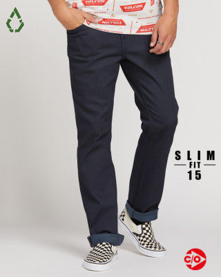 Volcom Vorta Slim Straight Jean - Coated Indigo - Buy online, Chicago Joes