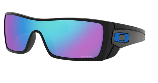 Oakley Sunglass - BATWOLF Polished Black/Prizm Sapphire - Chicago Joes