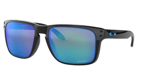 Oakley Sunglass - HOLBROOK XL Polished Black/Prizm Sapphire Iridium - Chicago Joes