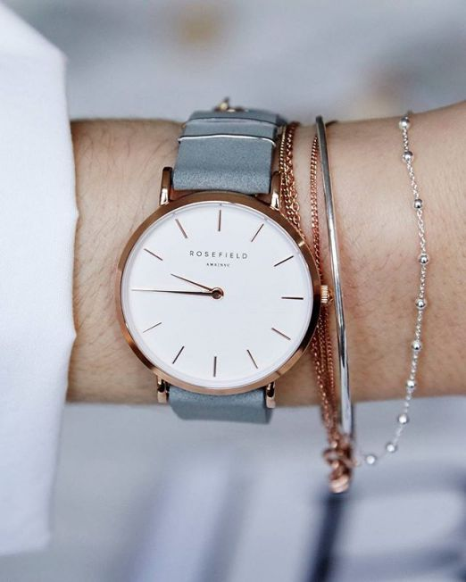 The West Village Watch - Mint Grey/Rose Gold - Chicago Joes