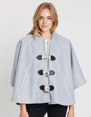 Rebel Cloak Coat - Grey