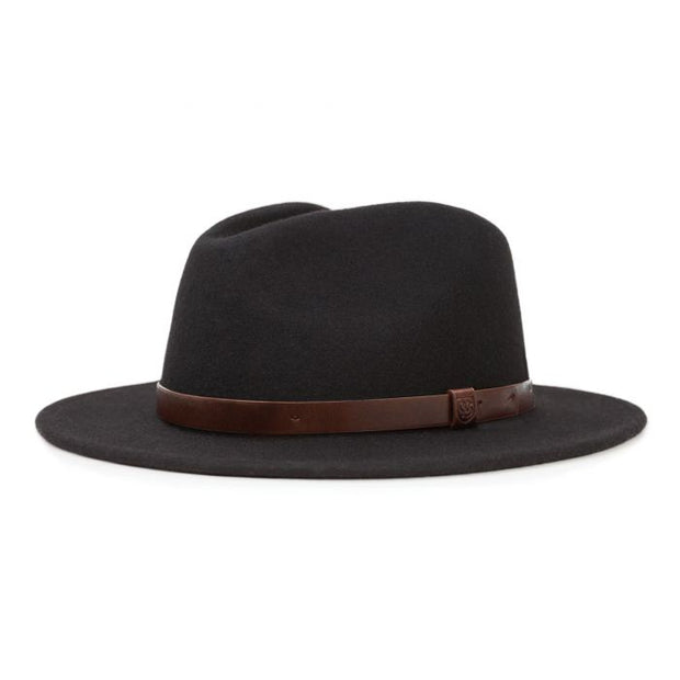 Brixton Messer Fedora - Black - Buy online, Chicago Joes
