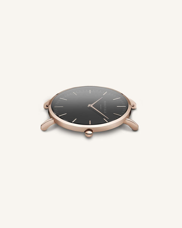 Mercer Watch - Black Rosegold