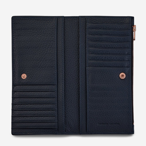 Status Anxiety In The Beginning Wallet - Navy Blue - Buy online, Chicago Joes